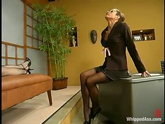 When A Dominatrix Is In Charge The Submissive Slut Has To Obey!