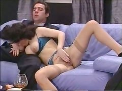 Horny brunette sucks the dick compilation blonde shows her tits