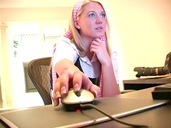 Pretty Alison Angel Masturbates Her Pussy At An Office