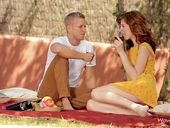 Pretty Barbara Sweet gets fucked nicely at a picnic