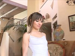 Charming Risi showing her pussy and expressing breast milk