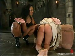 Dominatrix Finds A Submissive Girl To Obey Her... Shut The Fuck Up And Lick My Boots Bitch!