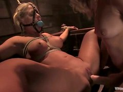 Blondes Play Nasty BDSM Games, This Is Getting Scary!