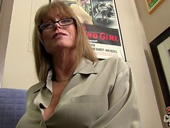 Mature MILF Whips Out Her Incredible Big Tits
