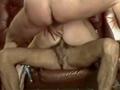 Slutty and filthy bitch gets drilled and black girl pokes on the sofa