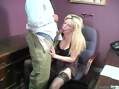 Cuckold office sex scene with amazing blonde Tiffany Tanner