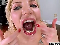 Ashley Fires fucking and swallowing