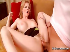 Sexy blonde babe gets her cunt fucked part5