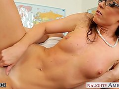 Tiny titted teacher India Summer fucking