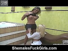 Grazi shemale fucking girl on video
