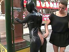 19 year old girl gets punished in public (Kink » Public Disgrace)