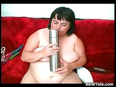 Crazy fat slut trying to insert part5