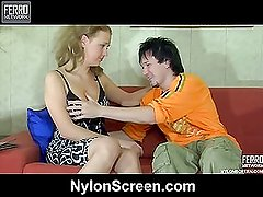 Alina&Rolf nylon sex action