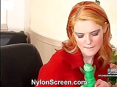 Ninette&Adam hot nylon movie