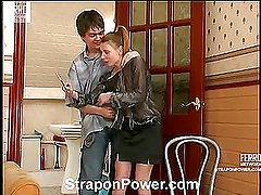 Alice&Ernest strapon domination action
