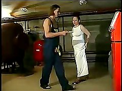 Hot mature bitch is seduced and sucks and fucks his hard cock