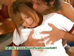 Japanese AV girl is teased by her loverboy