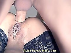 Filipino Deaf girl Gets paid for some Sex and Anal.