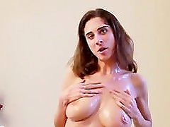 23yr old busty college girl playing with her saggy boobs