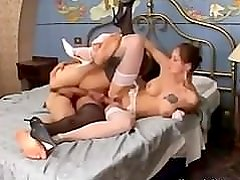 Hot Tgirl enjoys fucking with married couple