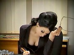 Razorcandi as a hot secretary yearning for a cock!