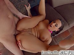 Ass Traffic Mea Melone gets deep anal pounding and swallows cum