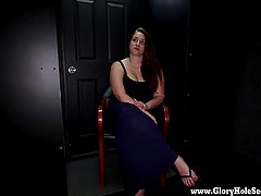 BBW Tiffany visits a gloryhole and gives blowjobs to complete strangers and swallows load after load