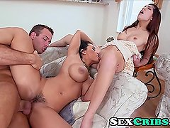 StepSon spys on stepmom Lisa Ann & fucks