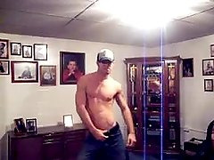 Dancing hunk. Funny or sexy?