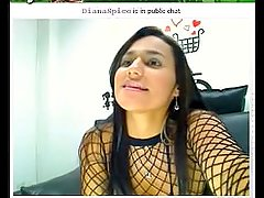 Colombian sexy Diana Spice in webcam