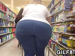 Granny With A Huge Ass At The Store