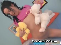 Beautiful french teen in pink panties part2