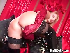 Beautiful blonde babe with big tits part3