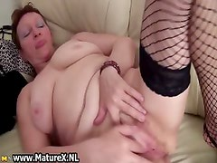 Old busty and horny mom is wanking part4
