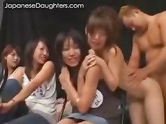 Daddy loves to fuck japanese daughter in her mouth and ass