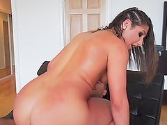 Bella takes a fat load of cum in her pussy