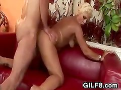 Sexy Blonde Granny Gets Fucked