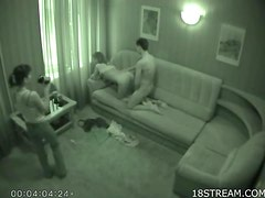 Hidden Camera Clip Of A Horny Blonde Teen getting Smashed On A Sofa