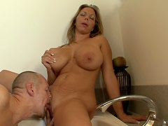 Amber Lynn Bach Gets Her Boobs and Pussy Fucked