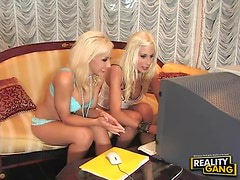 Jessica Lynn and Puma Swede Invite a Blonde Babe For Lesbian Threesome