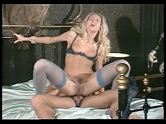Blonde Is Fucked On Silk Sheet Bed - Java Productions
