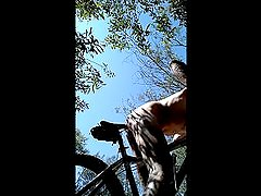 MTB Ride in bushes I stripped Naked and Buttfucked my Bike Seat!