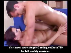 Hot brunette fucked hard in different positions and cumshot on face