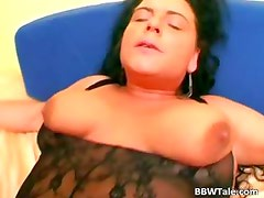Hot black lingerie on hot chubby body part1