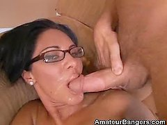 Amateur Fucked And Gets A Mouthful Of Jizz