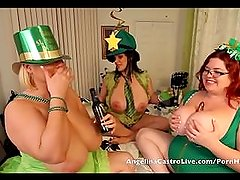 Angelina Castro St. Patricks day 3way Fuck fest!!!