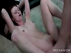 Amateur bald cunt fucked in close-up