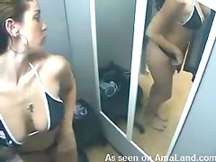 Hot Babe Changes Her Clothes In A Voyeur Clip
