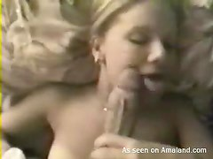 Huge cock fucking a hot blonde chick right here