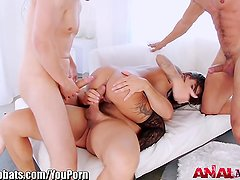 AnalAcrobats Bonnie Rotten DP'd, Gangbanged and SQUIRT